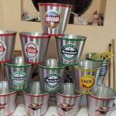 10 baldes cerveja de alumínio 9 litros