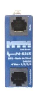 P4-RJ45 Protetor para Rede de Dados 4 vias 20kA