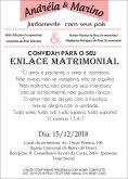 25 Convites 14X20cm Brilho + 25 convites 10X15 papel kraft