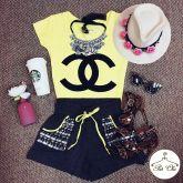Tee Chanel { Amarela }