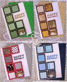 Kit 1 cartão happy birthday retalhos