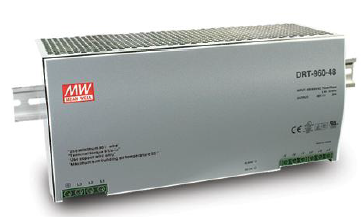 DRT-960-24 Fonte Chaveada Industrial Trifásica p/ Trilho DIN 24VDC / 40A Mean Well