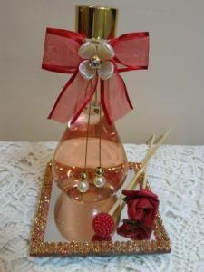 Aromatizador Difusor ou Sabonete Liquido Vidro Bola Vermelho