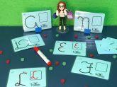 Alfabeto Manual com Setas para traçar