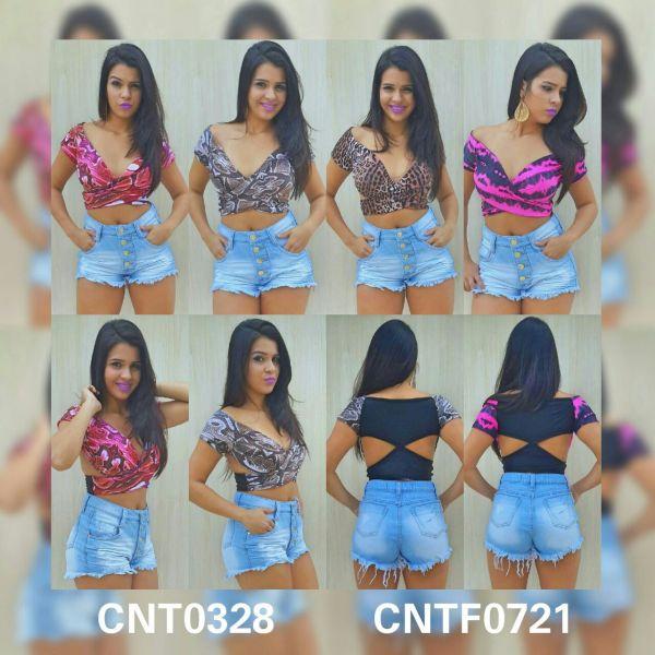 short hot pants 4 botões