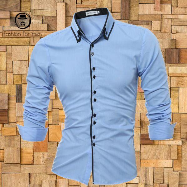 Camisa Manga Longa Azul BB