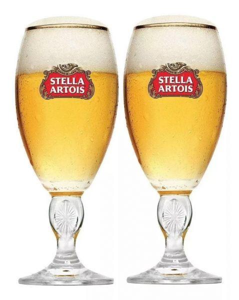2 Taças Cerveja Stella Artois 250ml + Caixa Original