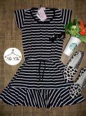 Vestido Stripes | Listras  [ Preto & Branco ]