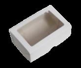 Caixa Branca Para 6 Doces com Visor 10un