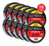Kit 10 Rolos Fita Isolante 5m - 3m Imperial