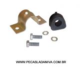Kit Abraçadeira c/ Bucha Barra Estabilizadora Dianteira  Externa Niva (Nova) Ref. 0303