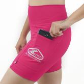 'Bermuda Feminina Compressão C/Bolsos Rosa - Emana