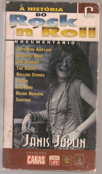 Fita VHS - A História Do Rock N' Roll Janis Joplin