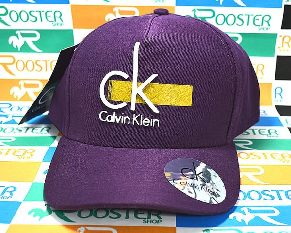 Boné Calvin Klein CK Roxo Aba Curva Strapback - Rooster Shop 948a60794de