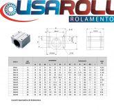 SMA ou SCS 8 UU = eixo de 8mm = MANCAL ROLAMENTOS LINEAR PILLOW BLOCK