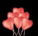 Balão Coração Nº11 50un