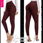calça legging (P-M-G), preta estampada, cintura alta, tecido jacquard grosso