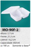 MO-90F-2 BANDEJA 2 DIVISÓRIAS 950 ML C/ 100 UN.