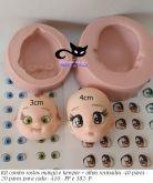 Kit 2 rostos mangá e kewpie + 40 pares olhos res. 410 PP/382 P