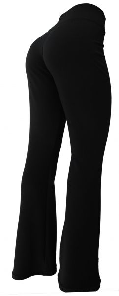 Calça feminina preta EXGGII(60/62) em malha crepe, tecido elegante de excelente qualidade