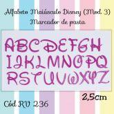 Alfabeto Maiúsculo Disney (Mod.3) Marcador de Pasta RV 236