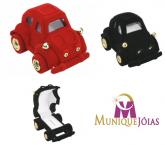 Carrinho fusca de veludo para jóias ou semijóias de crianças, modelo FU007