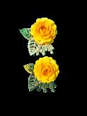 Kit Flores de Papel Rosa Amarela 5cm  2un