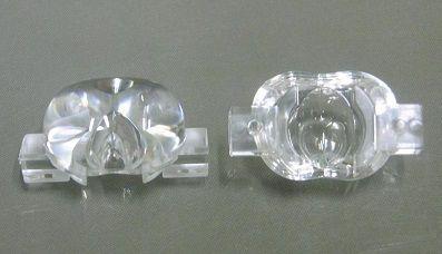 Lente 70°x130° p/ LED de 1W ou 3W / Street Light (6 peças)