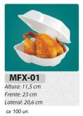 MFX-1 EMBALAGEM P/ FRANGO ASSADO PADRÃO C/ 100 UN. COM LOGOM ARCA