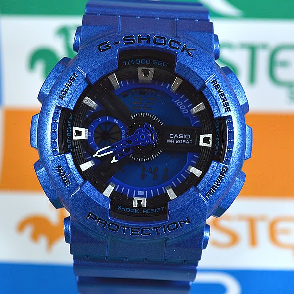 a1fe0c3984f Relógio Casio G Shock GA-110 Azul Unissex à prova d´água + Caixa ...
