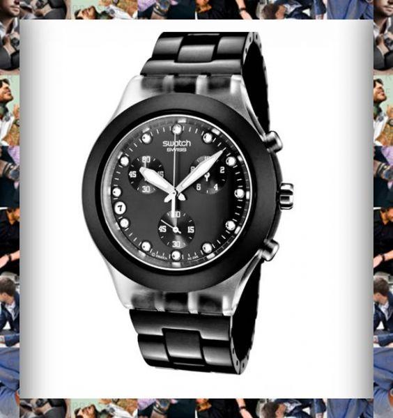 84b12e8024d Relógio Swatch Irony Masculino Preto Original - JR - Relógios ...