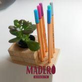 porta canetas com vaso