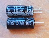 ELETROLÍTICO 10X16 105ºC 5X11,4mm UNITED 10ufx16v PRÉ-CORTADO