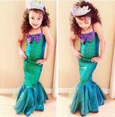 Vestido Fantasia Ariel Cód 95