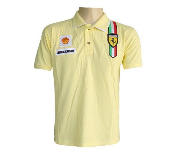 d05e2c46ed Camisa Polo Ferrari Amarela -Réplica - Best comércio