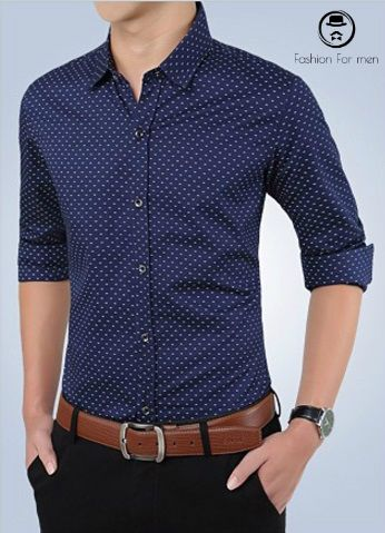 Camisa Slim Fit 2017 Azul