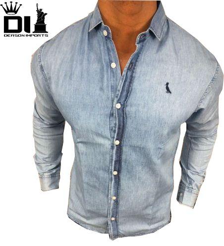 804f9939ca Camisa Jeans Manga Longa Reserva - ESTILO IMPORTADO-DERSON IMPORTS