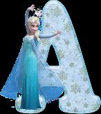 Alfabeto - Frozen Vestido de Gala 4 - PNG