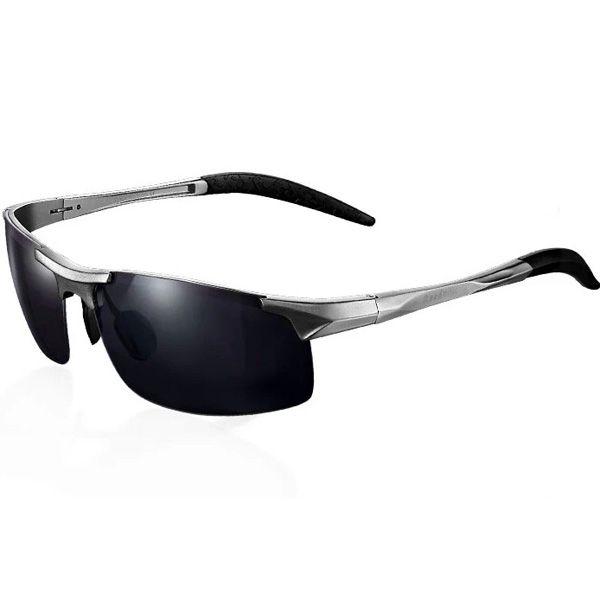 260904b08471f Óculos de Sol Masculino reedoon 8177 liga de alumínio e magnésio proteção  Uva Uvb