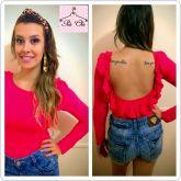 Body Pink - Babado nas Costas