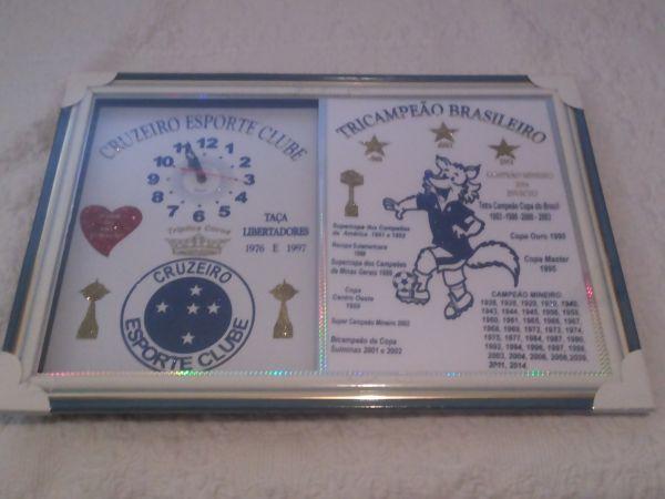 afad4123aba Relógio de Parede Quadro - Cruzeiro Esporte Clube - JK UTILIDADES DO LAR