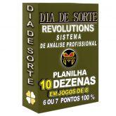 Planilha DIA DE SORTE, aposte com 10 dezenas em JOGOS DE 8, 6 ou 7 pontos 100%.