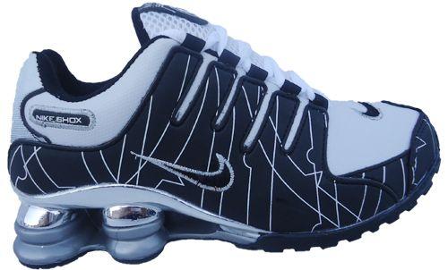b5c238848b Tênis Nike Shox NZ Preto e Branco Cromado - LOJA TA NA MODA CALÇADOS