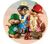 Papel Arroz Alvin e os Esquilos Redondo 012 1un