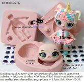 Kit Boneca Lol 13cm Com Olhos Resinados