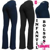 Calça bailarina/flare ou reta (08-10-12-14), tecido gorgurinho azul ou preto