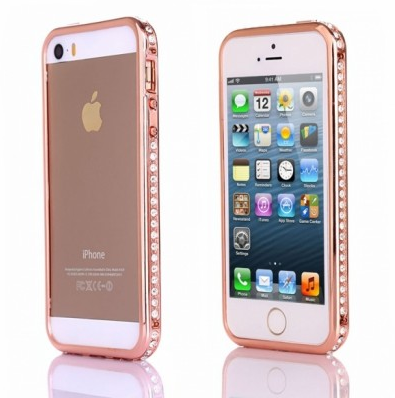 case rose gold com strass para iphone 5 5s inventory for. Black Bedroom Furniture Sets. Home Design Ideas