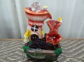 Fonte Decorativa Cogumelo C/bomba De Água, Led E Cristal 110 Ou 220 V