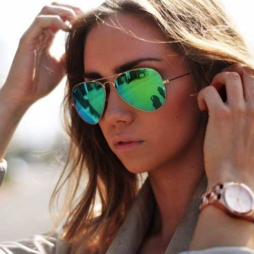 919d19e54f000 Oculos Style - Ray Ban aviador 3026 Dourado Lentes Espelhada Verde ...