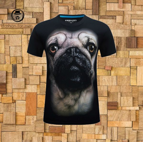 t shirt Pug 3D